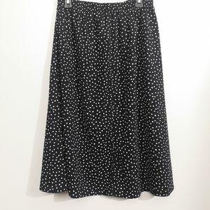 Vntg Polka Dot Bon Worth Skirt Size M-L